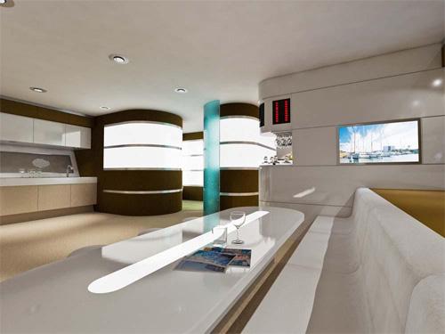 modern yacht interior design