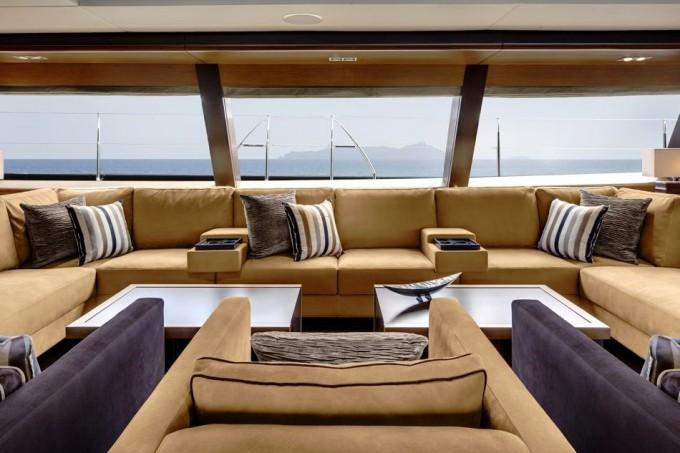Sailing Yacht Kokomo III - The Saloon Lounge Interior Design-680